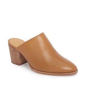 Madewell Leather Harper Mule Heel Shoes